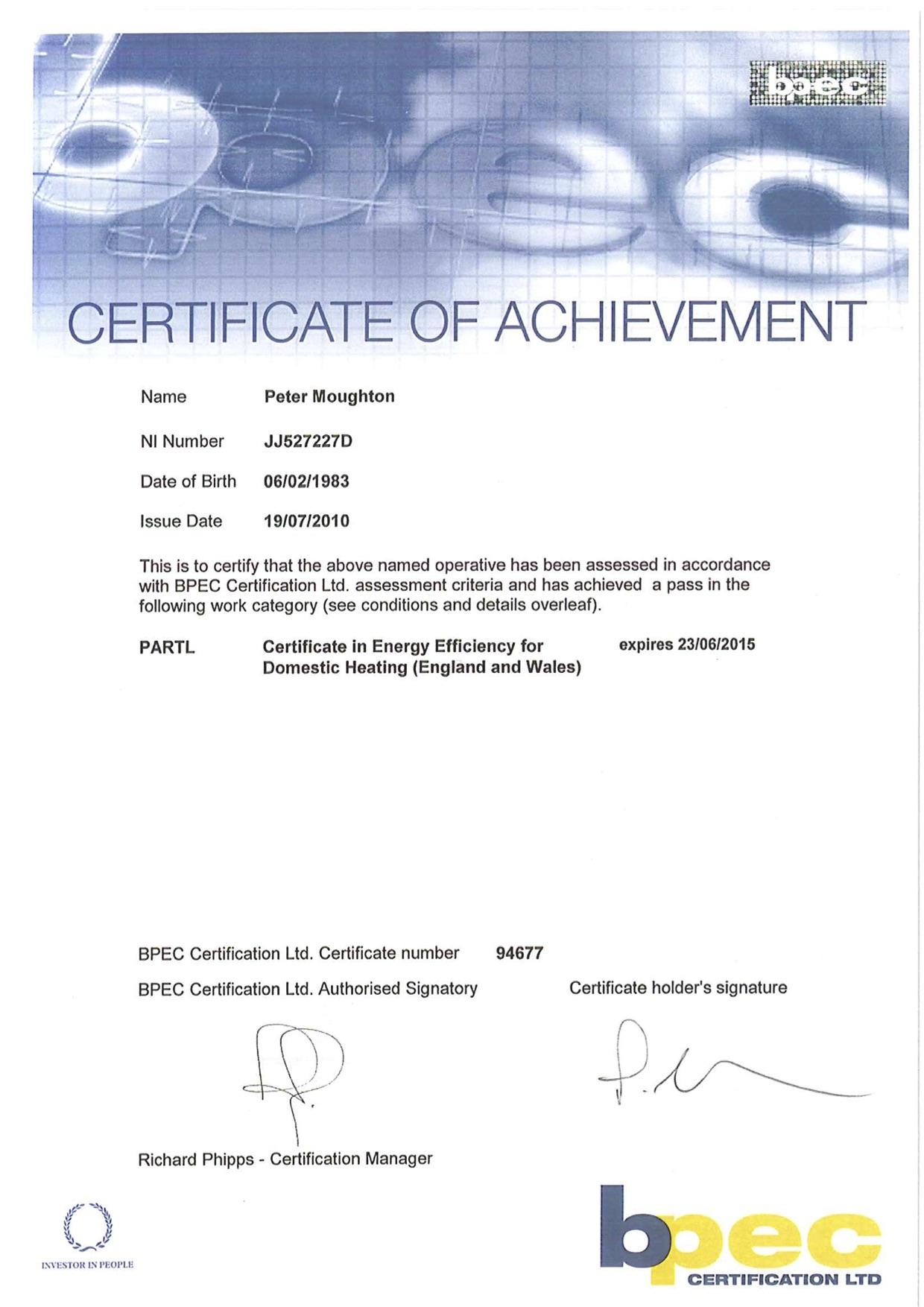Certificates Solartherm Uk